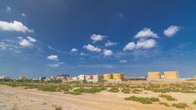 Stadtbild von Adschman mit Landhäusern bereiten und unter constroction timelapse vor Adschman ist das Kapital des Emirats von Ads lizenzfreie stockbilder