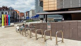Stadtbild von Brüssel Stockfotos