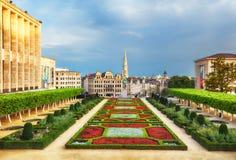 Stadtbild von Brüssel an einem schönen Sommertag Lizenzfreies Stockfoto