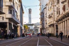 Stadtbild von Casablanca - Marokko lizenzfreies stockbild