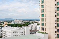 Stadtbild von chiangmai in Thailand mit bewölktem Stockbilder