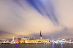 Stadtbild von Gamla Stan Old Town Stockholm Stockfoto