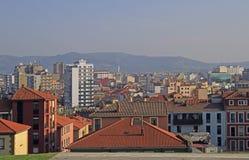 Stadtbild von Gixon in der spanischen Region Asturien Stockfotografie