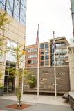 Stadtbild von im Stadtzentrum gelegenem Denver, Colorado lizenzfreie stockfotografie