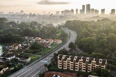 Stadtbild von Johor Bahru Stockbild