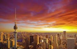 Stadtbild von Kuwait Stockfotos