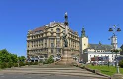 Stadtbild von Lemberg am 9. Mai 2014 Lizenzfreie Stockfotos