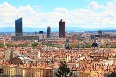 Stadtbild von Lyon, Frankreich Lizenzfreies Stockfoto