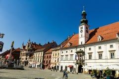 Stadtbild von Maribor Lizenzfreie Stockfotografie