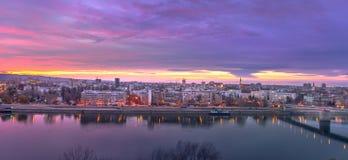 Stadtbild von Novi Sad lizenzfreies stockbild