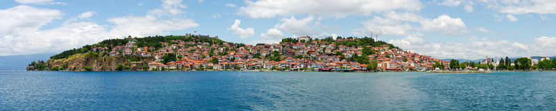 Stadtbild von Ohrid, Mazedonien Lizenzfreie Stockfotografie