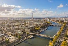 Stadtbild von Paris Stockbild