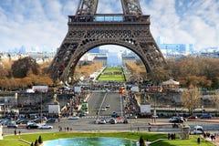 Stadtbild von Paris mit dem Eiffelturm, in Frankreich Lizenzfreies Stockbild