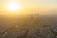 Stadtbild von Paris nachts Stockfotos