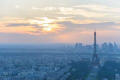 Stadtbild von Paris nachts Lizenzfreies Stockbild