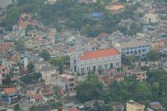 Stadtbild von Quang Ninh, Vietnam Stockfotos