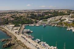 Stadtbild von Rhodos Lizenzfreies Stockfoto
