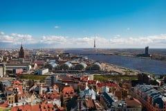 Stadtbild von Riga stockfoto