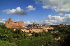 Stadtbild von Siena Stockfoto