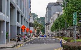 Stadtbild von Singapur stockbild