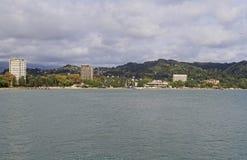 Stadtbild von Sochumi - die Hauptstadt von Abchasien stockfotos