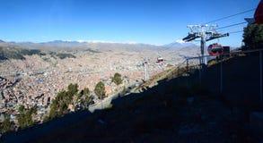 Stadtbild von Station 16 de Julio MI Teleférico La Paz bolivien Stockbilder