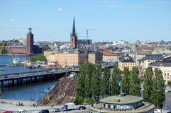 Stadtbild von Stockholm Lizenzfreies Stockfoto