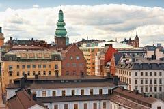 Stadtbild von Stockholm. Schweden Stockbilder