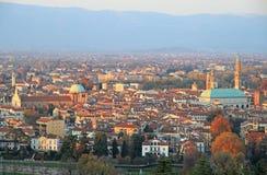 Stadtbild von Vicenza, Nord-Italien stockfotos