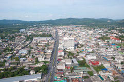 Stadtbild von yala Stadt, Thailand lizenzfreies stockfoto