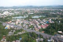 Stadtbild von yala Stadt, Thailand lizenzfreie stockfotos