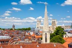 Stadtbild von York, North Yorkshire, England Stockfotos