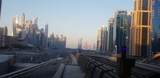 Stadtbild vor Sonnenuntergang lizenzfreies stockbild