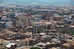 Stadtbild-Vorort-Barcelona-Ansicht von der Vogel ` s Augenansicht Lizenzfreie Stockbilder