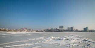 Stadtbild, Winter Lizenzfreies Stockbild