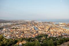 Stadtbildansicht über Sete-Dorf im Süden von Frankreich lizenzfreie stockbilder