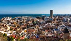 Stadtbildansicht ?ber Alicante in Spanien, Europa lizenzfreie stockbilder