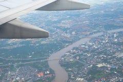 Stadtbildansicht von der Spitze Stockfoto
