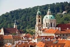 Stadtbildansicht von historischen Gebäuden in Prag, Tschechische Republik Lizenzfreie Stockbilder