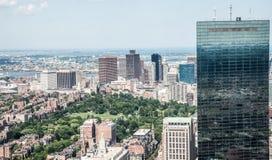 Stadtbildansicht von im Stadtzentrum gelegenem Boston Lizenzfreies Stockfoto