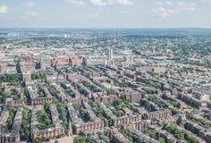 Stadtbildansicht von im Stadtzentrum gelegenem Boston Lizenzfreie Stockfotos