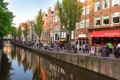 Stadtbilder im Rotlichtviertel von Amsterdam lizenzfreies stockbild