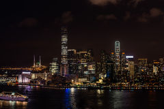 Stadtbildnacht Tsim Sha Tsui Hong Kong Stockfoto