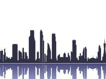 Stadtbildschattenbild Lizenzfreie Stockbilder
