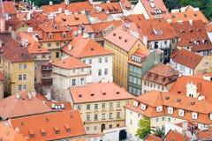 Stadtdächer Stockfoto