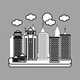 Stadtdesign Gebäudeikone Getrennte Abbildung Stockbilder