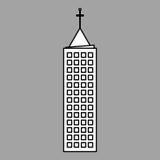 Stadtdesign Gebäudeikone Getrennte Abbildung Lizenzfreie Stockbilder