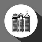 Stadtdesign Gebäudeikone Getrennte Abbildung Stockbild