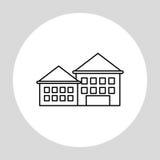 Stadtdesign Gebäudeikone Getrennte Abbildung Lizenzfreie Stockfotografie