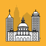 Stadtdesign Gebäudeikone Getrennte Abbildung Stockfotos